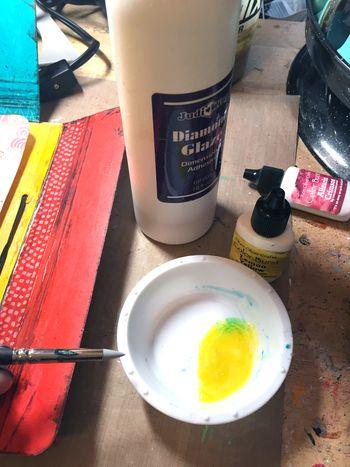 Color Burst Technique - Diamond Glaze - Gwen Lafleur