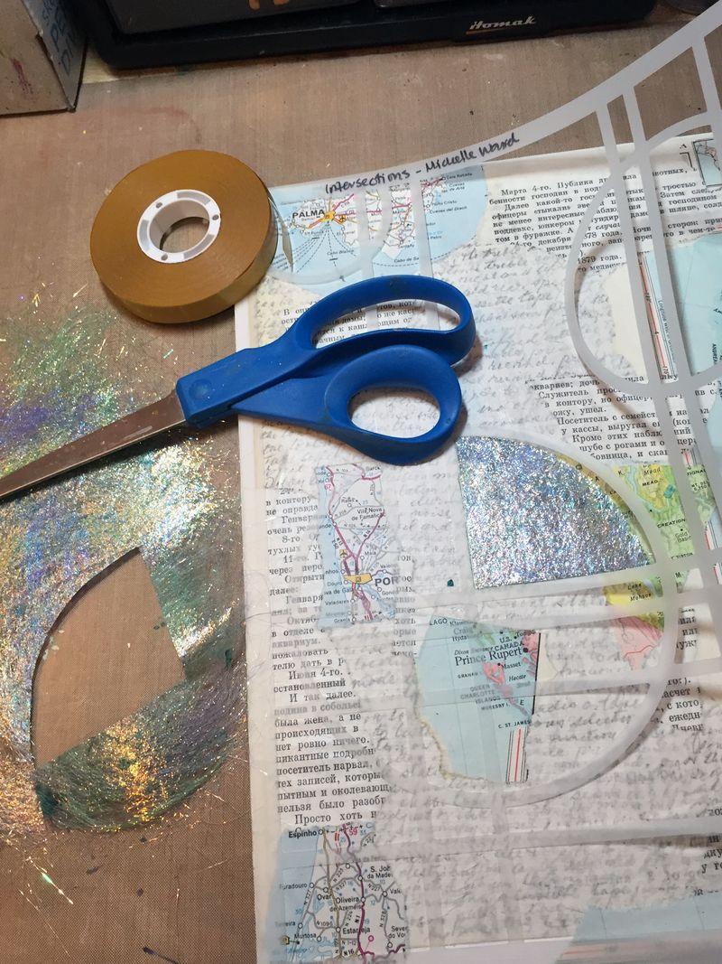 StencilGirl-USArtQuest Hop - Start Collage - Gwen Lafleur