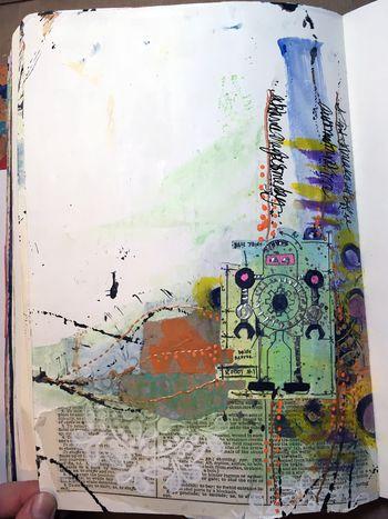 Random by Design with Dina Wakley P1 - Gwen Lafleur