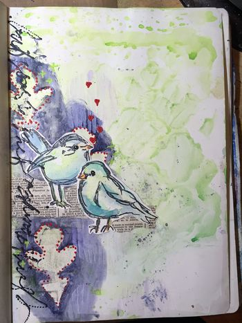 Watercoloring with Acrylics with Dina Wakley P1 - Gwen Lafleur