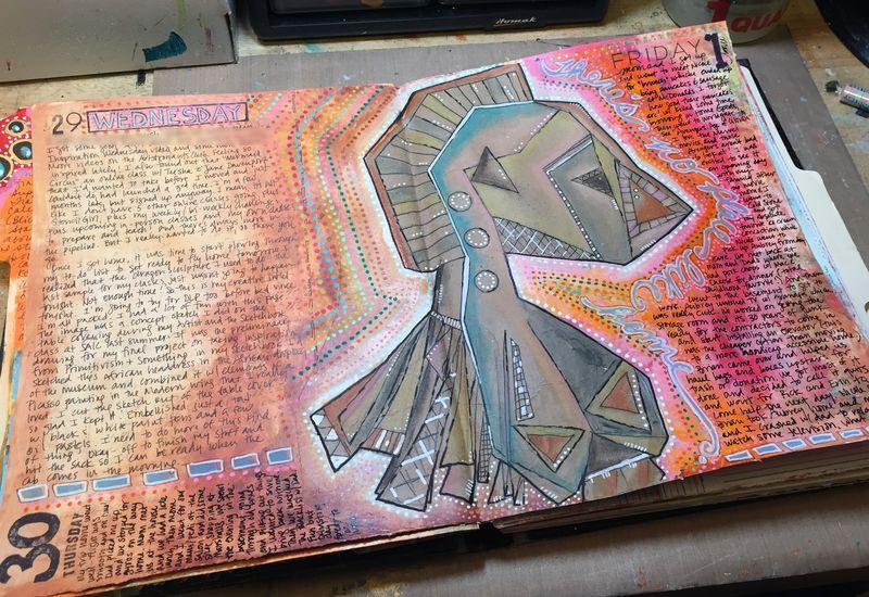 Junque Journal Spread 7 - Gwen Lafleur