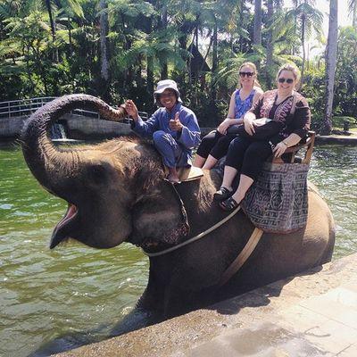 Emily and I on Elephant