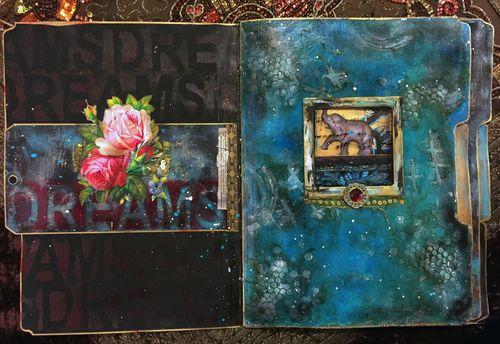 Nov2015 StencilClub - File Folder Art Journal 1 - Gwen Lafleur