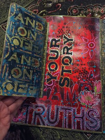 Nov2015 StencilClub - File Folder Art Journal 5a - Gwen Lafleur