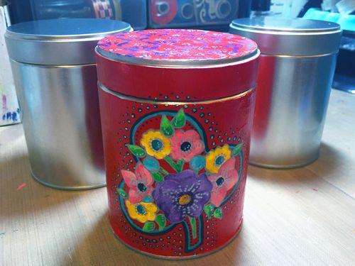 Stenciled Spice Tin - Gwen Lafleur