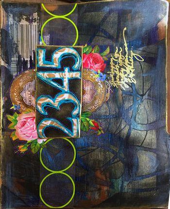 Dec2015 StencilClub - Art Journal 2 - Gwen Lafleur