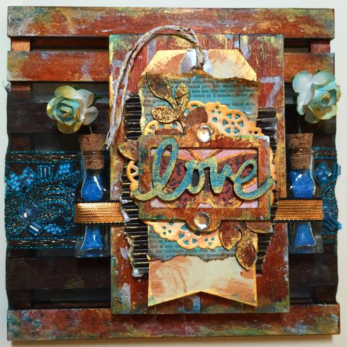 Mixed Media Art-C Pallet Project by Gwen Lafleur