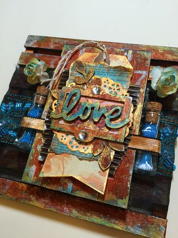 Mixed Media Art-C Pallet Project close-up 3 by Gwen Lafleur