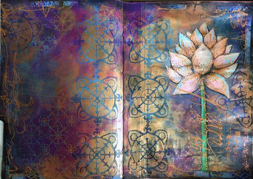 Peace Art Journal Page Cropped - Gwen Lafleur