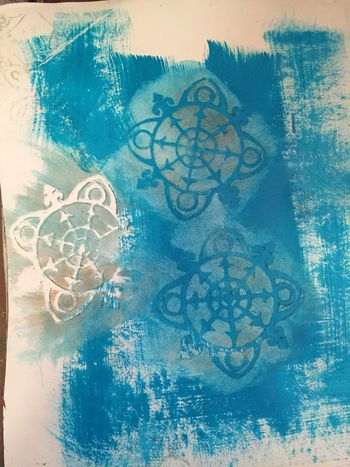 Reduction Stenciling with Masks - Gwen Lafleur