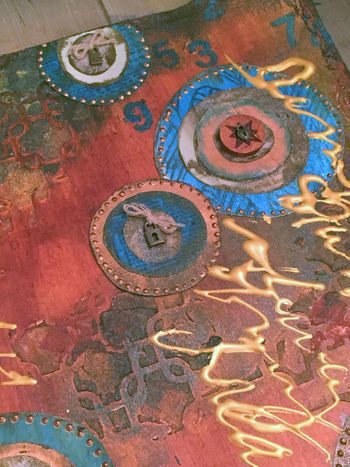 Art-C Winter 2016 CHA Paint - Art Journal Page Close-up 1 - Gwen Lafleur
