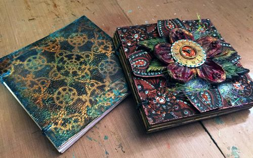 StencilGirl - Inchie Arts - Mini Art Journals - Gwen Lafleur