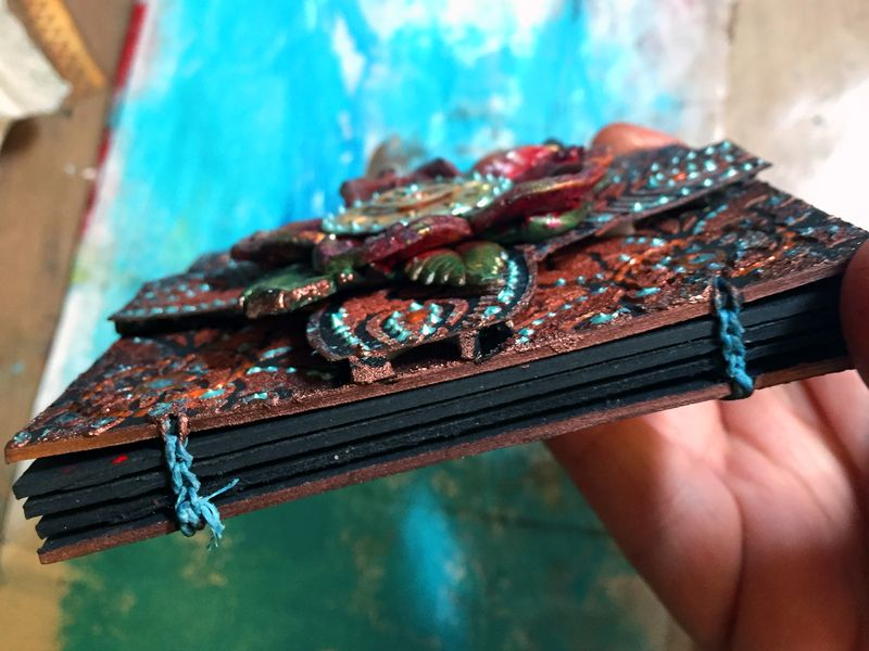 StencilGirl - Inchie Arts - Mini Art Journal Binding - Gwen Lafleur