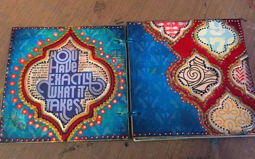 Mini Art Journal - Spread 1 - Gwen Lafleur