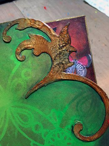 StencilGuts Handmade Art Journal - Page 5 Close-up - Gwen Lafleur