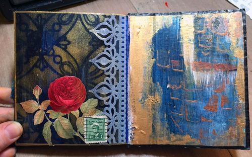 StencilGuts Handmade Art Journal - Page 12 - Gwen Lafleur