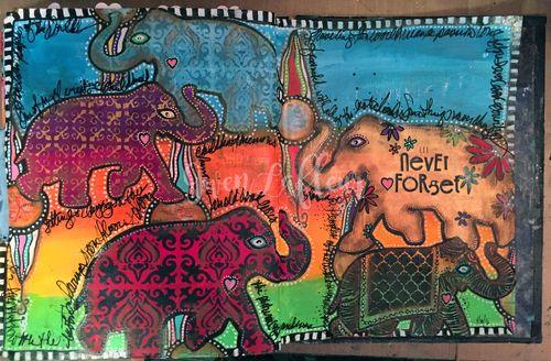 Never Forget - Art Journal Spread - Gwen Lafleur - wm