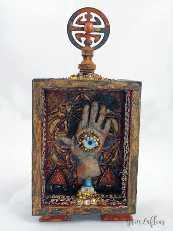 Mini Mixed Media Hand Shrine - Gwen Lafleur