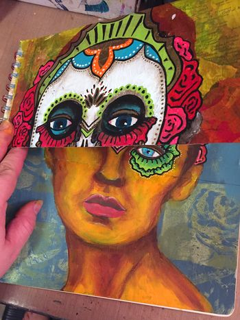 Mix and Match Faces - Art Journaling - Gwen Lafleur