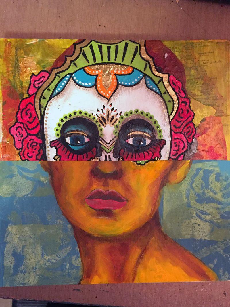 Mix and Match Faces - Art Journaling Mix 2 - Gwen Lafleur
