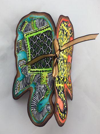 Reversible Stamped Elephant Card Top View - Gwen Lafleur