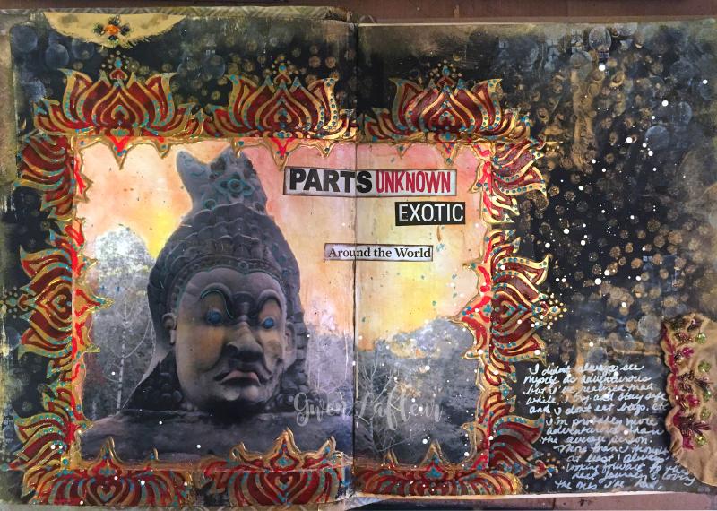 Adventure Art Journal Spread - Gwen Lafleur