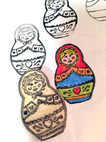 Handcarved Matryoshka Stamp - Gwen Lafleur