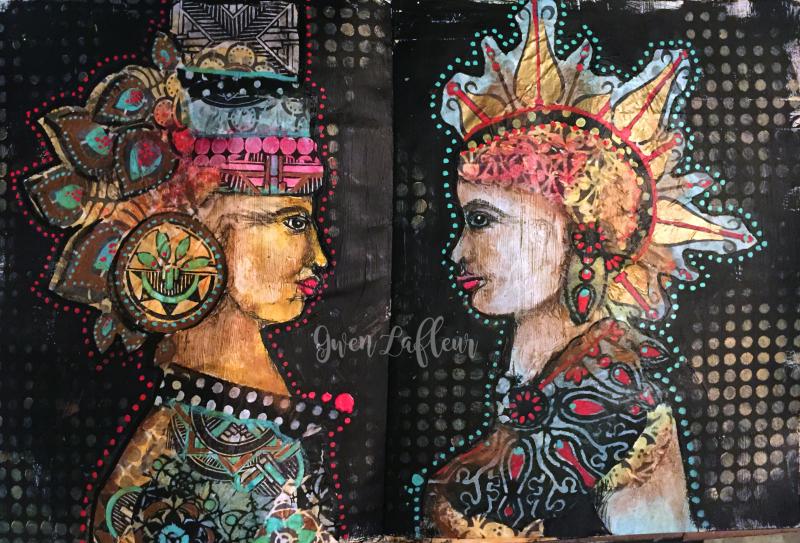 Alter Egos Art Journal Page - Gwen Lafleur
