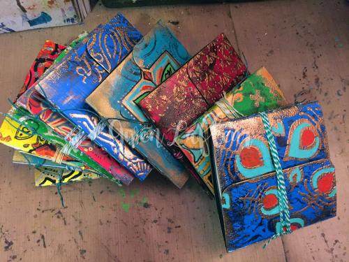 Mini Stenciled Junque Journals - Complete - Gwen Lafleur