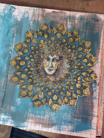 Mixed Media Medallion Art Journal Idea - Gwen Lafleur