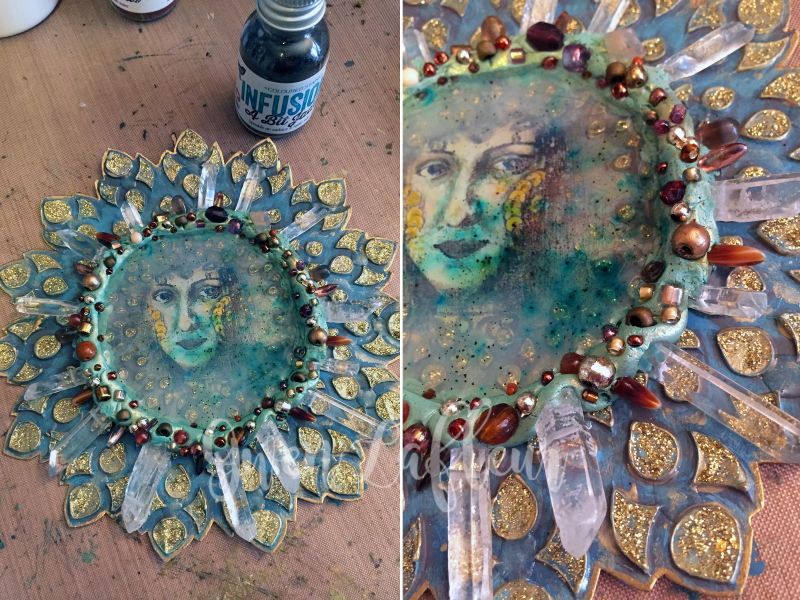 Mixed Media Medallion Step 5 - Gwen Lafleur