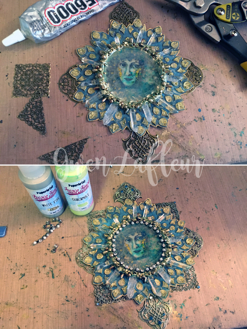 Mixed Media Medallion Steps 6-7 - Gwen Lafleur