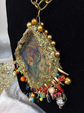 Mixed Media Pendant - Close-up 2 - Gwen Lafleur