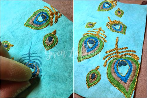 Stenciled Kraft-Tex Notebook Cover Step 2 - Gwen Lafleur