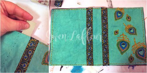 Stenciled Kraft-Tex Notebook Cover Step 5 - Gwen Lafleur
