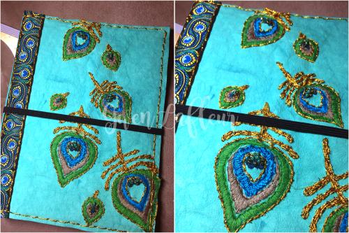 Stenciled Kraft-Tex Notebook Cover Step 6a - Gwen Lafleur