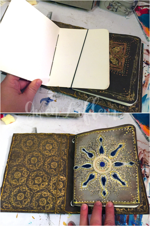 Stenciled Kraft-Tex Notebook Cover Step 10a - Gwen Lafleur