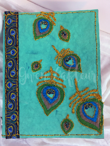 Stenciled Kraft-Tex Notebook Cover without Band - Gwen Lafleur