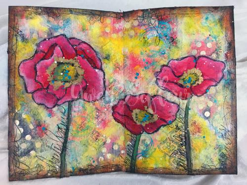 Art Journal Design Class - Spread 2 - Gwen Lafleur