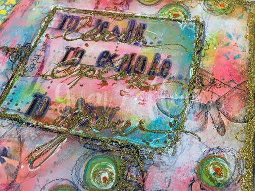 Wanderlust Week 1 - Art Journal Page Close-up 3 - Gwen Lafleur