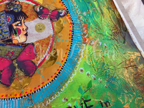 Wanderlust Week 2 - Art Journal Page Close-up 2 - Gwen Lafleur