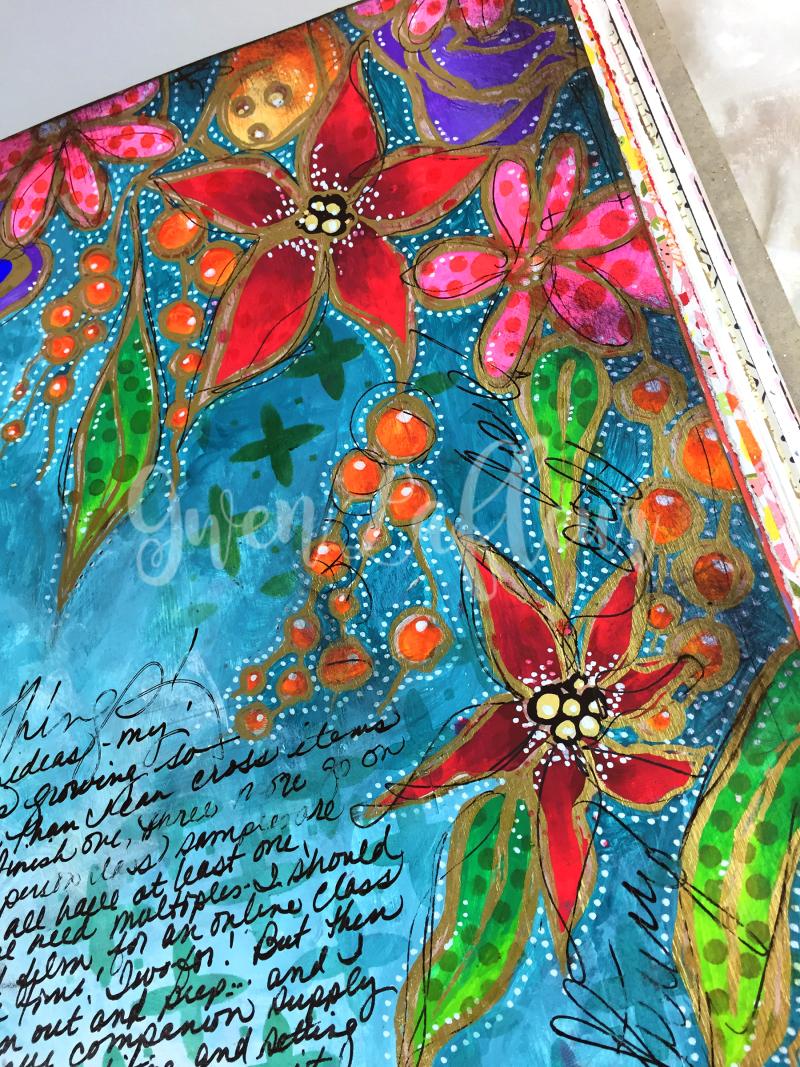 Wanderlust Week 3 - Art Journal Page Close-up 2 - Gwen Lafleur
