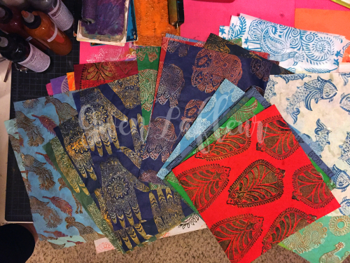 Printmaking - Blockprinting 1 - Gwen Lafleur