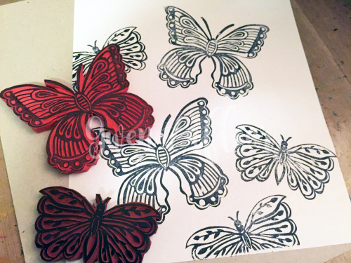 Printmaking - My Butterfly Stamps - Gwen Lafleur