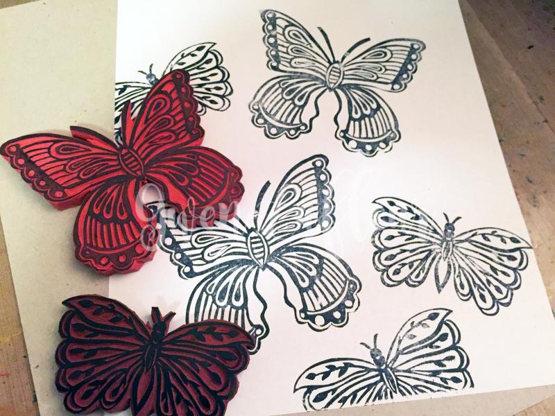 Printmaking - My Butterfly Stamps - Gwen Lafleur