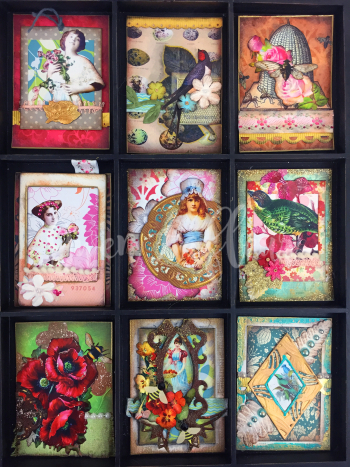 March 2017 ATCs - In the Garden - Gwen Lafleur