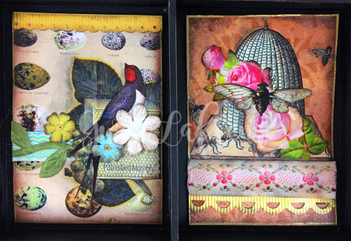 March 2017 ATCs - In the Garden Cards 5-6 - Gwen Lafleur