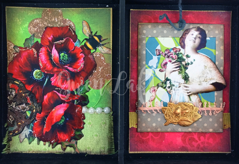 March 2017 ATCs - In the Garden Cards 7-8 - Gwen Lafleur