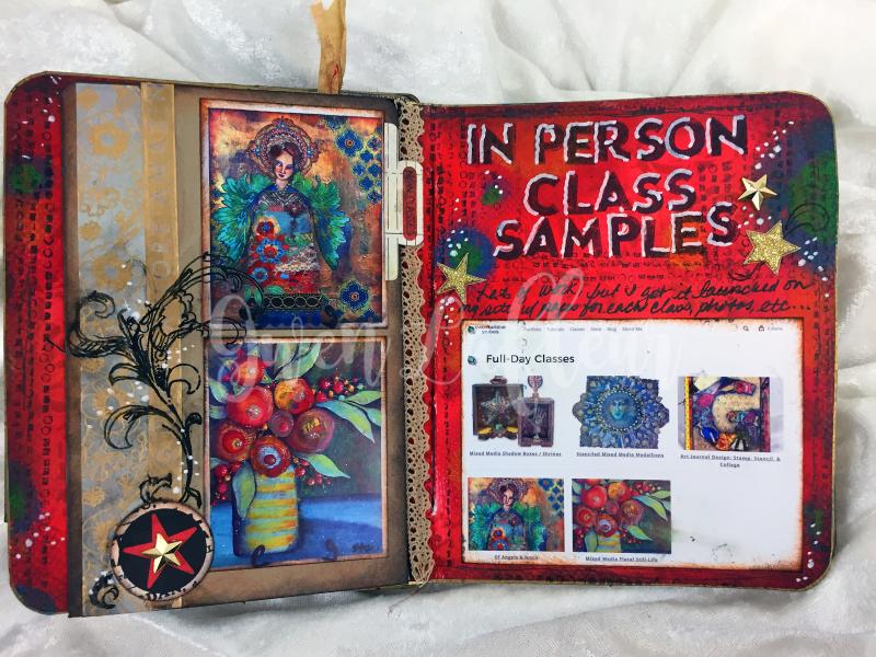 ARTifacts Art Journal - February Spread 2 - Gwen Lafleur