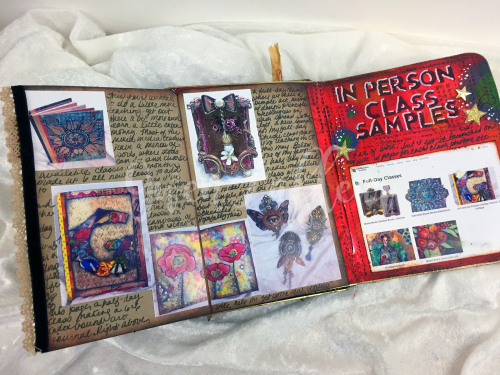 ARTifacts Art Journal - February Spread 2b - Gwen Lafleur